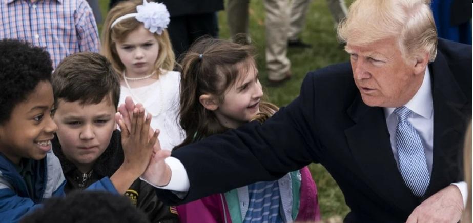 President Trump with children